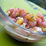 recette salade de crevettes à la féta