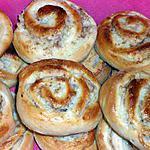 recette Brioches roulées,à la pâte magique