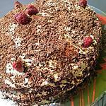 recette Forêt noire au nutella fourré aux framboises et sa chantilly au mascarpone