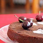 recette Gâteau moelleux au chocolat & aux cerises