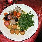 recette Filet-mignon sur son lit de carottes et pruneaux