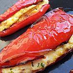 recette Encornet de poivrons farcis à la brandade
