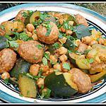 recette tajine de boulettes aux courgettes