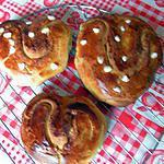 recette Brioche suédoise en forme de coeur