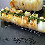 recette Lamelles de seiche à la plancha au beurre d'ail persillé