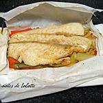 recette Papillotes de poisson miel, xérès sur petits légumes