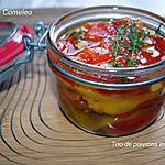 recette Trio de poivrons marinés à l'huile