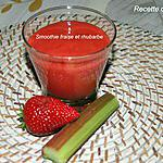 recette Smoothie fraise et rhubarbe