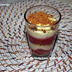 recette Verrine au coulis de fraises et speculoos