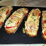 recette Bruschetta au maroilles
