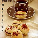 recette Macaron praliné noisette