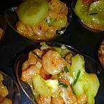 recette Concombres et crevettes marinés au curry