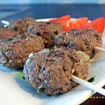 recette brochettes de keftas (boulettes orientales)