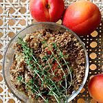 recette Crumble abricot rhubarbe & thym - Farine de noisette