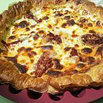 recette Tarte italienne aux tomates confites à la créme de parmesan et basilic