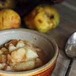 recette Compote de poires vanillée au miel d'acacia
