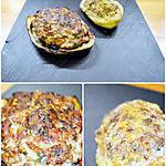 recette Aubergines & p. de terre Farcies