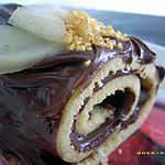 recette petit roulé nutella-poire
