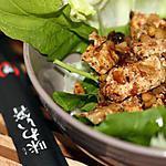 recette Salade de poulet au sésame et pignons de pin
