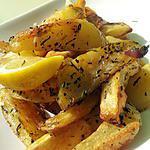 Frites au thym et citron