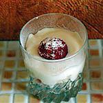 recette douceur de petit suisse aux fruits de saison (exemple:pêche)
