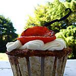 recette Cupcakes pêche, abricots rôtis et vanille