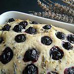 recette Focaccia à la lavande et aux myrtilles