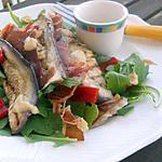 recette Salade à l'aubergine grillée, vinaigrette d'houmous
