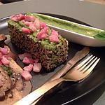 recette Quinoa, petits lardons et crème toute verte