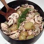 recette Salade de pommes de terre, champignons et aneth