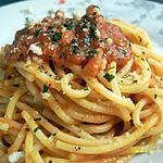 spaghettis all'arrabiata (sauce tomate épicée)