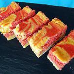 recette Tarte marbrée chocolat blanc-framboises