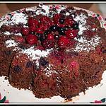 recette gâreau au chocolat et fruits rouges