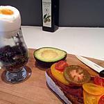 recette oeuf de canne & bruschetta oignons/tomates