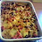 Gratin de pommes de terre et haricots