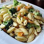 recette Coquilles alfredo au brocoli