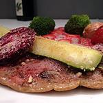 recette omelette rose aux champignons et fraises