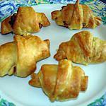recette mini croissant jambon- kiri