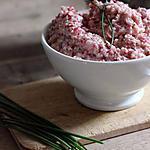 recette Tartinade toute rose de radis, échalote, chèvre et ciboulette