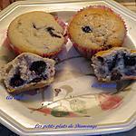 recette Muffins aux bleuets et ( au chocolat )