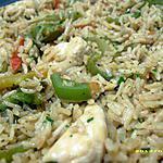 recette riz poêlé aux poulet