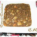 recette Lentilles vertes du Puy façon Cathy R.
