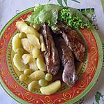recette Aiguillettes de canard au raisin et aux pommes