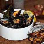 recette Moules marinières au curry, citron et estragon