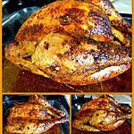 recette Poulet rôti comme en rotisserie (à la moutarde et à l'ail)