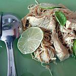 recette Poulet coco-curry et vermicelles de riz