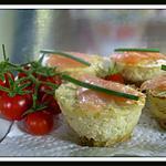 recette mini cheese cakes saumon fumé
