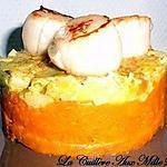 Ecrasé de patate douce et sa fondue de poireaux