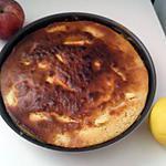 recette Gâteau aux pommes caramélisées-rhum au yaourt