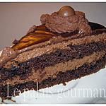 recette Gâteau étagé, mousse et ganache chocolatées